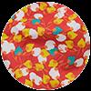 choix serviette elastique fleurs