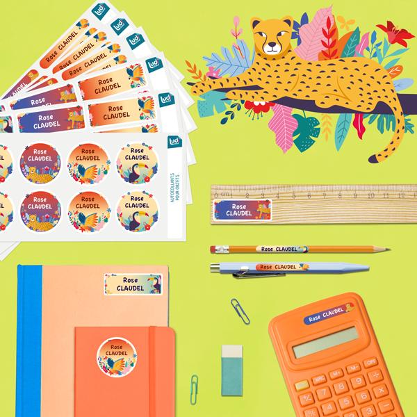 Pack Étiquettes fournitures scolaires
