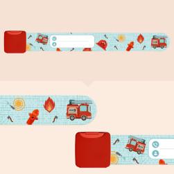 Bracelet d'identification enfant - Pompier