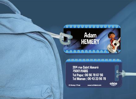 Une étiquette de bagage Coco pour identifier sacs et valises