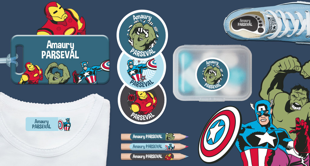 Etiquettes Marvel Avengers