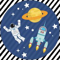Cosmonaute dans l'espace