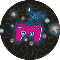 Etiquettes manettes de jeux vidéo