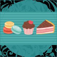 Des gâteaux, cupcake et macarons