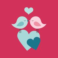 Oiseaux et coeurs
