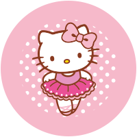 Etiquette Hello Kitty Danse