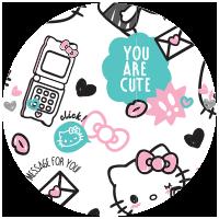 Etiquette Hello Kitty Danse