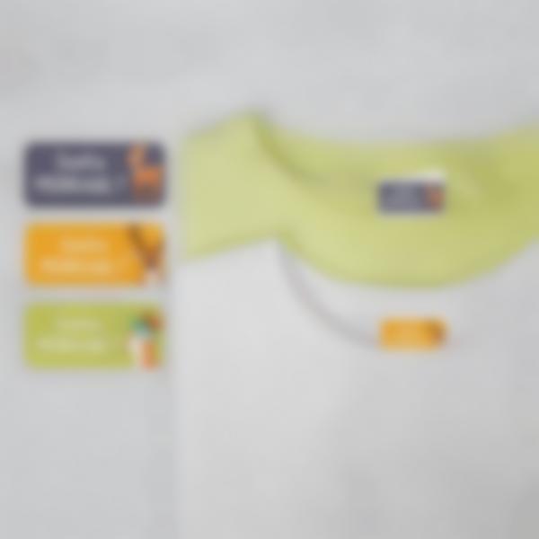 2 pack etiquettes marquage vetements sans fer classe verte
