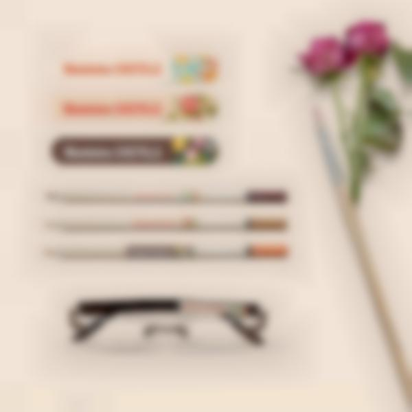 5 pack autocollants nom marquage stylo epahd bis
