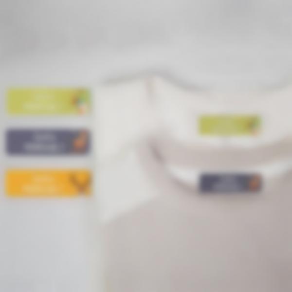 5 pack etiquettes thermocollantes vetements classe verte