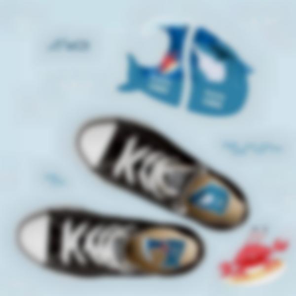 etiquettes chaussures intuitives enfant requin