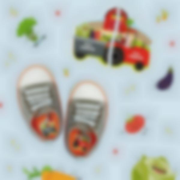 etiquettes chaussures intuitives enfant tracteur