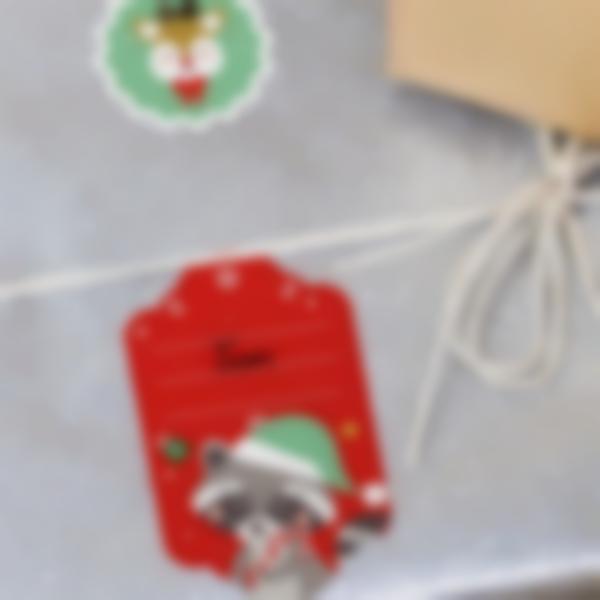 etiquettes marquage cadeaux noel