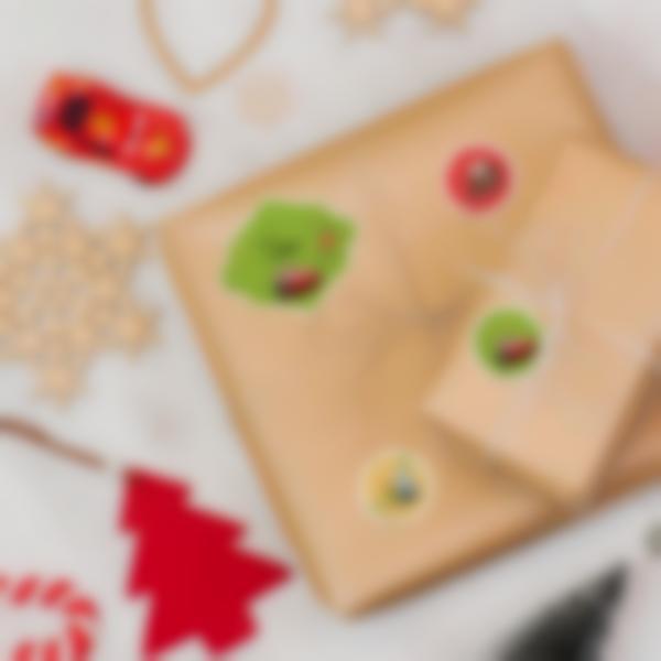 etiquettes noel cadeaux enfants cars3 disney ambiance