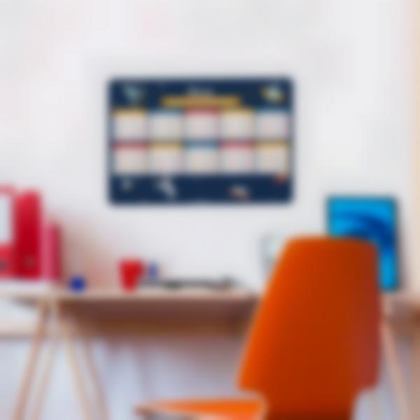 poster educatif tables de multiplication autocollants sans colle espace 1
