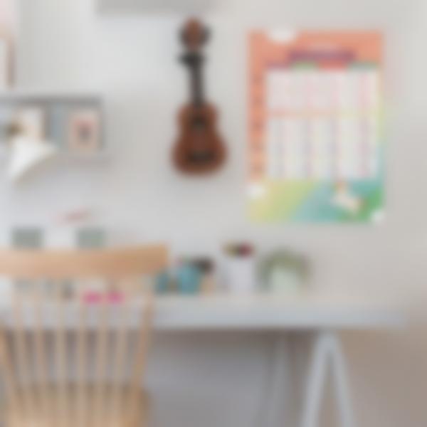 poster educativo personalizzato tabelle delle coniugazioni unicornio 2 1