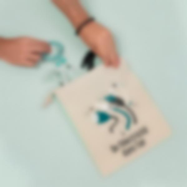 sac de rangement tissu cables chargeur 2