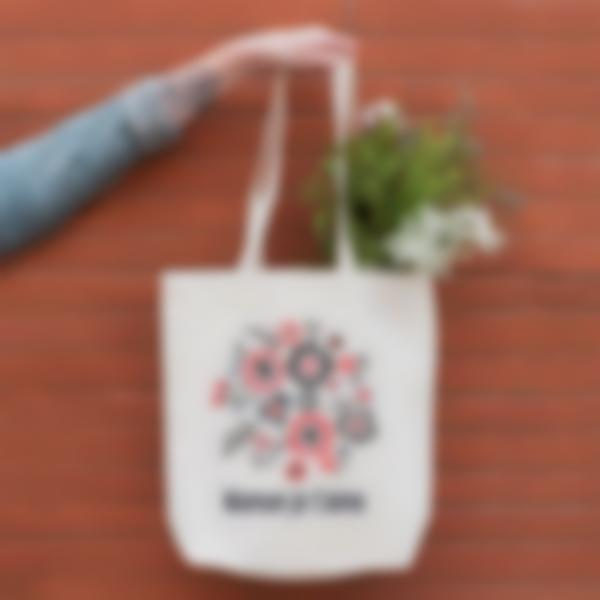 tote bag sac cadeau maman fleurs 1