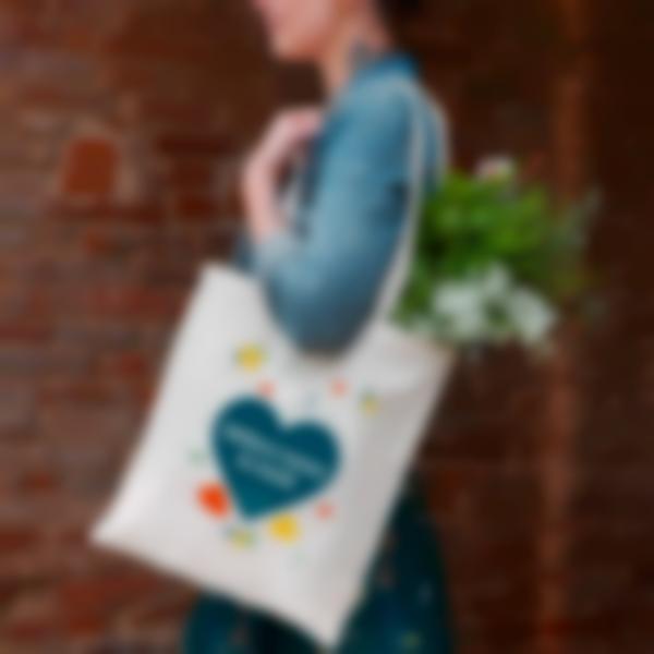 tote bage shopping bag tissu coeurs 2 2