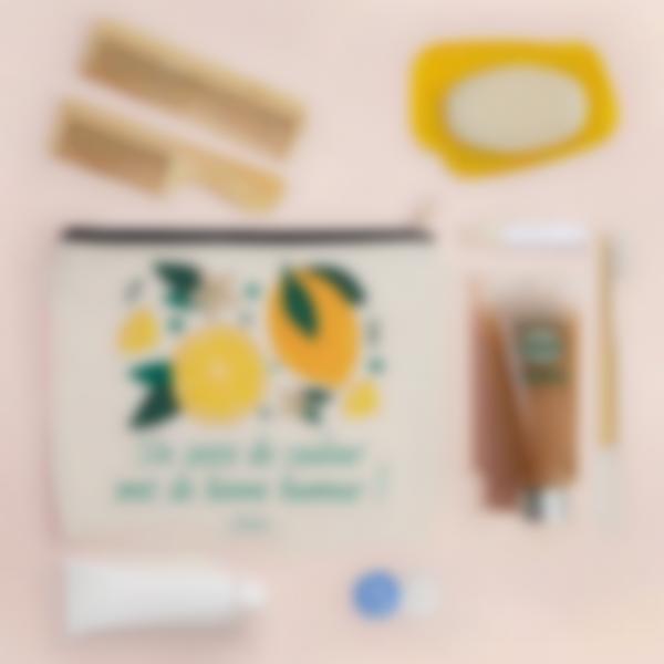 trousse pochette personnalisee citrons 2