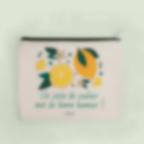 trousse pochette personnalisee citrons