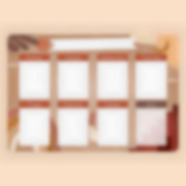 weekly magnetic white board organizer terracotta