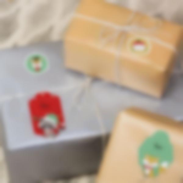 Étiquettes pour marquer les cadeaux de Noël