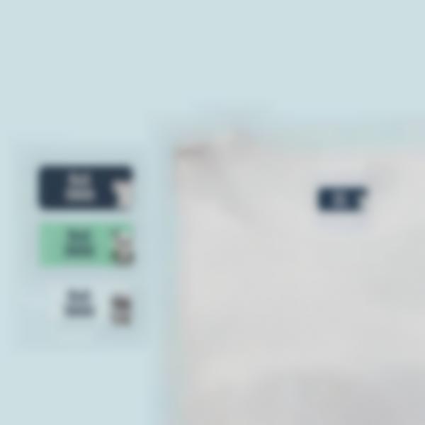 Nominettes autocollantes Ludisticks pour vêtements - Un seul nom
