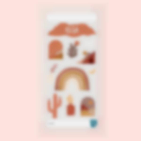 Etiquettes pour gourde - Terracotta