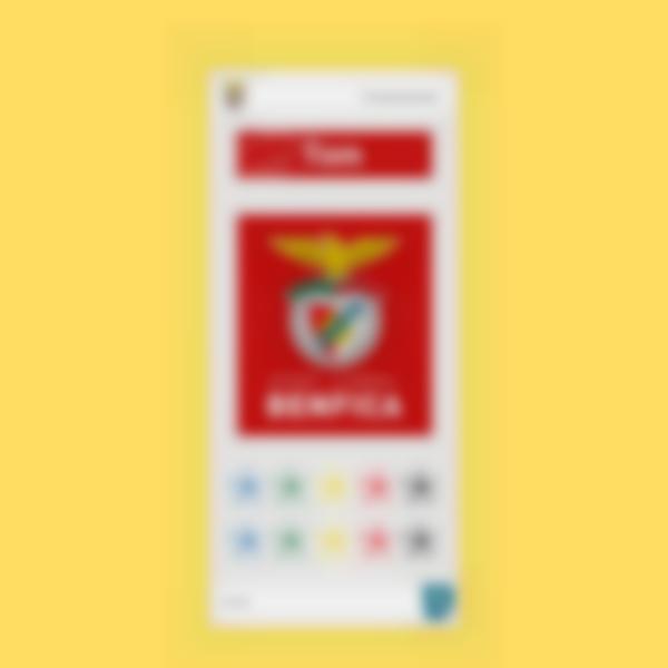 Etiquettes pour gourde - Benfica