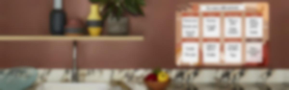 Le planning menu  Terracotta