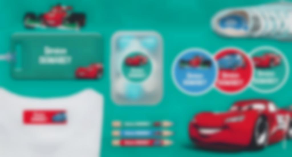 Etiquettes personnalisées Cars