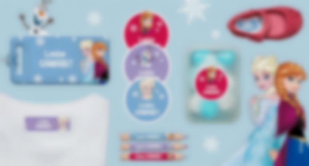 Etiquettes personnalisées la Reine des Neige 1