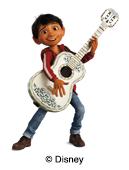 illustration Disney Coco pour étiquettes nominatives